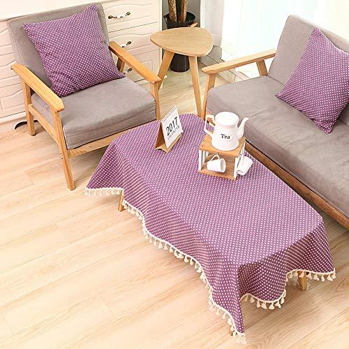 Baumwolle Tischdecken im Stil, Tischdeckenbezug Leinen Waschbar Tischdecke für ,60x90cm