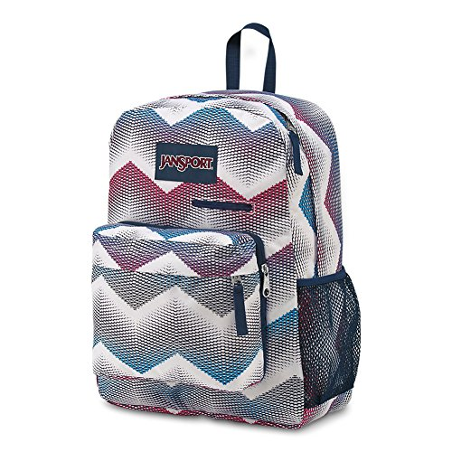 JanSport Digibreak Laptop Backpack - Matrix Chevron White