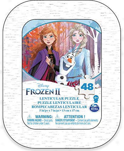 Spin Master Games Frozen 2 - Lentikular-Puzzle in Mini-Metallbox