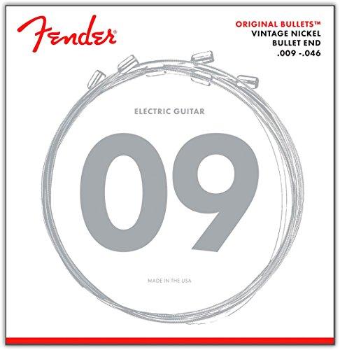 Fender 3150LR Original Bullet Light/Regular Pure Nickel Guitar Strings (0.09-0.46) 6 Strings Set