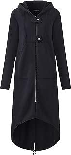 Women Plus Size Cardigan Jacket Long Hooded Coats Zipper Pullover Sweater Tunic Dinner Blazer Coat Tops