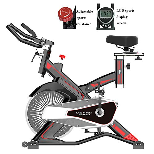 Buy Bargain Exercise Cycling Spinning Bike with LCD Screen,Adjustable Resistance Cardio Aerobic Work...