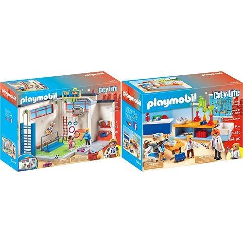 PLAYMOBIL 9454 Spielzeug-Turnhalle &  9456 Spielzeug-Chemieunterricht