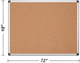 MasterVision CA271170 Value Cork Bulletin Board with Aluminum Frame 48 x 72 Natural