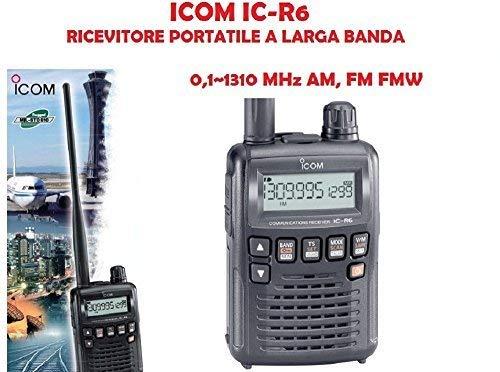 Icom IC-R6#12 draagbare ontvanger met grote dekking 0,1~1310 MHz