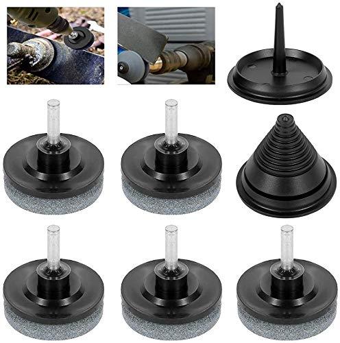 5 stks grasmaaier messenslijper met 1 stuk grasmaaier mes balancer kit grinder wiel steen voor boormachine handboor