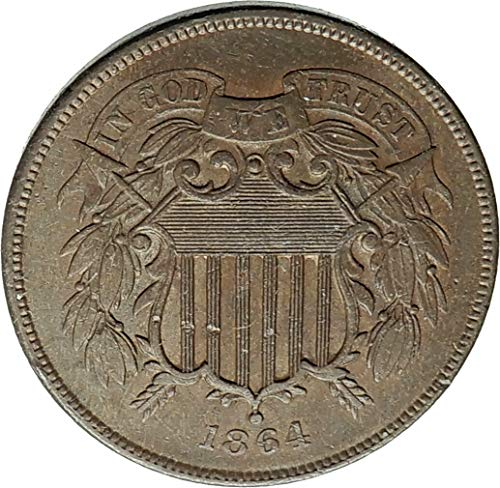1864 unknown 1864 UNITED STATES 2 Cents 1st IN GOD WE TRUST on coin Good Uncertified