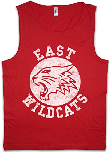 Urban Backwoods East Wildcats Herren Männer Tank Top Training Shirt Rot Größe S
