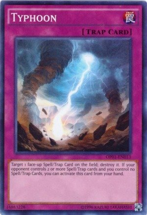 YU-GI-OH! - Typhoon (OP01-EN013) - OTS Tournament Pack 1 - Unlimited Edition - Super Rare