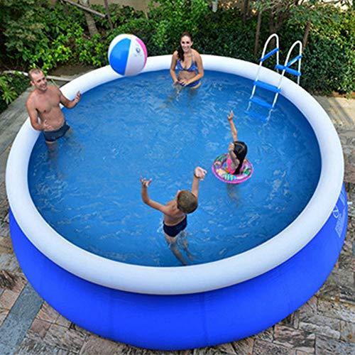 XM&LZ Extra Grande Piscina Hinchable para Los Niños Adultos,Redondo PVC Piscina, Uso Doméstico Blow Up Pool,Jardín Al Aire Libre Piscina Infantil Azul 240x63cm