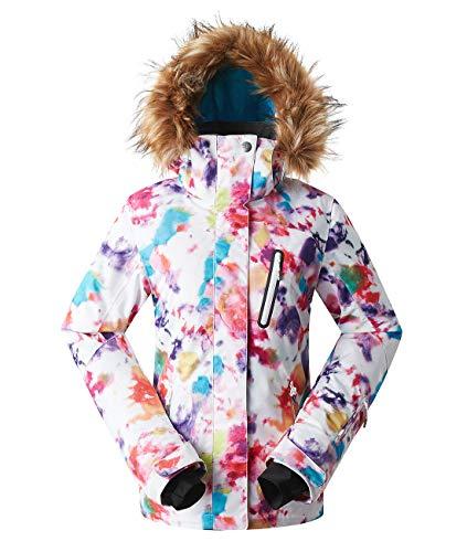 APTRO Damen Skijacke warm Jacke gefüttert Winter Jacke Outdoor Funktionsjacke Regenjacke Mehrfarbig 1802 M