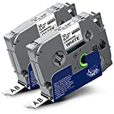 2x Labelwell 0.47 12mm x 8m White Sostituzione Nastro Compatibile per Brother Tz Tze-231 Tze231 Tz231 Nero su Bianco per Brother P-Touch GL-H100 PT-H100LB PT-H101C PT-P700 PT-E100 PT-D600VP PT-D400VP