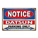 面白いダットサン駐車のみビンテージレトロ車自動ティンサイン