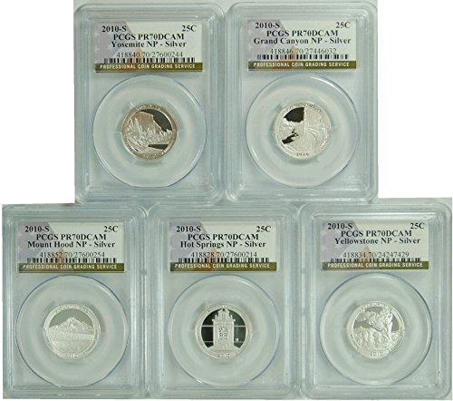 2010 National Parks Set S Silver Quarter DCAM PCGS PR-70