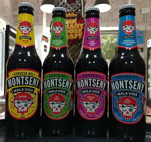 Cerveza Montseny Mala Vida (12 botellas de 33 cl) Imperial Stout Cerveza Artesana