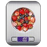 quancifang Küchenwaage Digital 10KG, Digitale Küchenwaage Waage Gramm Küchen Digitalwaage Kitchen Scale Küchenwage Haushaltswaage mit LCD Display Briefwaage Digital Waage Küche
