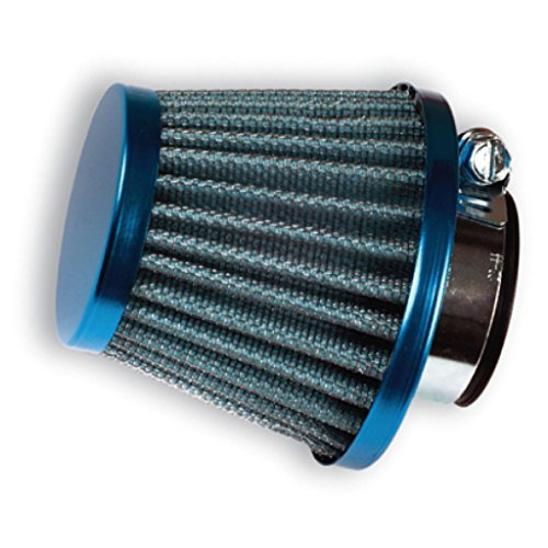 Motorrad Tuning Sportluftfilter Luftfilter Air Filter 28mm und 35mm blau