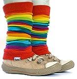 divata Stulpen für Babys und Kinder - Kinderstulpen, Babystulpen, Beinlinge für Mädchen und Jungs (Regenbogen)