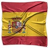 Bufanda cuadrada Bandera de España Cálido chal largo para mujer envuelve bufandas grandes