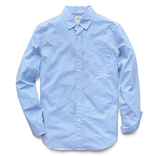Camicie Casual Button-Down A Maniche Lunghe Plaid Degli Uomini Dubinik 100% Cotone Facile Cura Regolare - - L