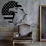 Wandtattoos Weißkopfseeadler Vereinigte Staaten Symbol Amerikanische Flagge Patriotische Einzigartige Abziehbilder Hauptdekoration Wandaufkleber A4 44X42CM