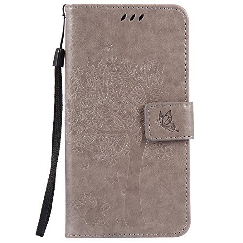 Nancen Compatible with Handyhülle Sony Xperia X Flip Schutzhülle Zubehör Lederhülle mit Silikon Back Cover PU Leder Handytasche Etui Schale