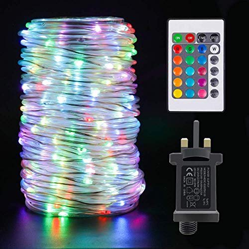 20M/ 72ft Outdoor String Rope Lights - IP68 Waterproof Fairy 200 LED Strip Tube Light with Remote Control & Timer /16 Colors & 4 Modes for Bar, Party, Birthday, Christmas, Wedding