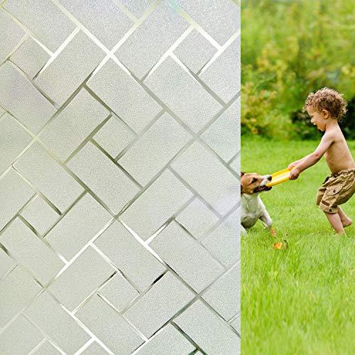 LMKJ Película de Cubierta de Ventana esmerilada decoración de privacidad electrostática autoadhesiva, Utilizada para Bloquear Pegatinas de Vidrio Ultravioleta A82 30x100cm