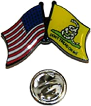 Lapel pin for Motorcycle Accessories Studs for Clothes USA American Gadsden Don't Tread on Me Friendship Flag Bike Hat Cap Lapel Pin