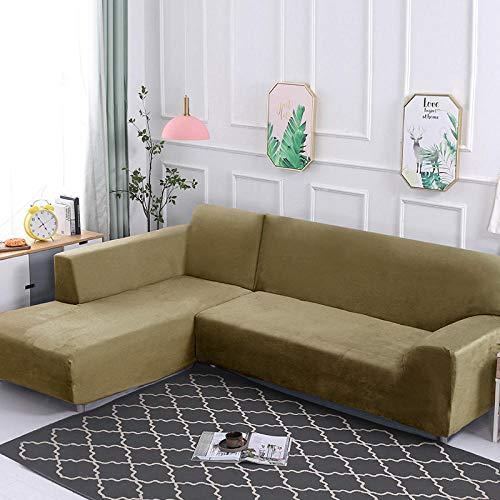 laurelxi Funda de sofá-Funda de sofá-Funda de sofá Lavable Protector de sofá para Mascotas-Funda de Muebles-Funda de sofá para Perros con Banda elástica Rosa-Gris-Verde (Felpa) _90-140cm