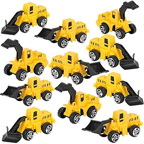 ArtCreativity Mini Pullback Construction Trucks, Set of 24, Fun Action Vehicles with Pull Back Mechanism, Birthday Party…
