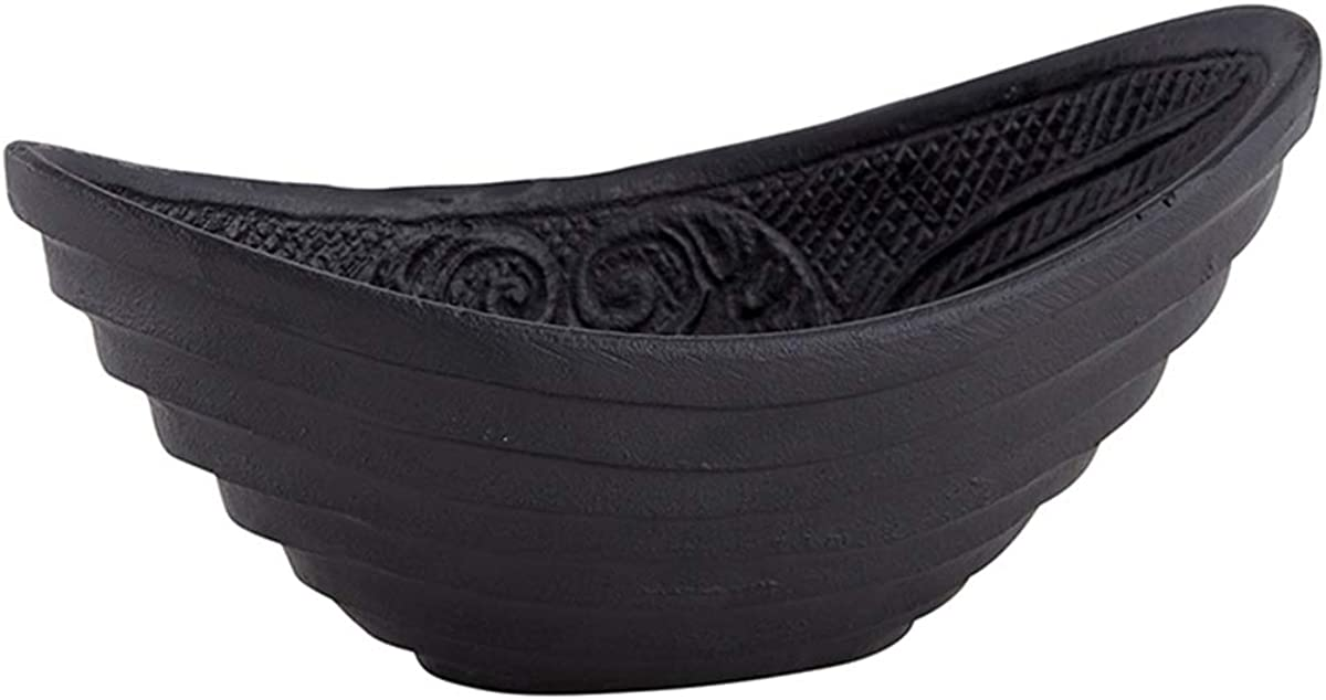 Versatile Oval Cast Iron Small Serving Bowl, 6 1/2 Inch