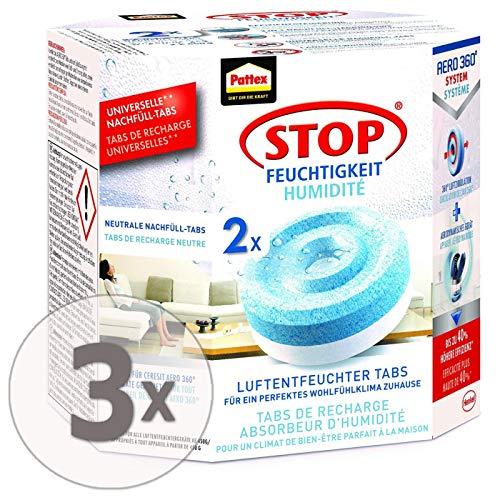 Gardopia Sparpaket: PATTEX Nachfüller Tabs für Luftentfeuchter Aero 360° (2 x 450 g), 3 Stück