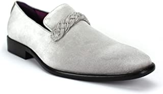 AFTER MIDNIGHT AM 6845 Velvet Smoking Slipper with Woven Braid