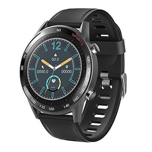 LRHD Reloj inteligente hombres ritmo cardíaco presión arterial oxígeno multi-deporte impermeable reloj inteligente mujer fitness tracker smartwatch deporte inteligente pulsera smartwatch compatible co