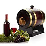 Wine Barrel, 1.5L Oak Barrel Wood Barrel Oak Barrel Dispenser Age Your Own Whiskey, Beer, Wine, Bourbon, Tequila, Rum