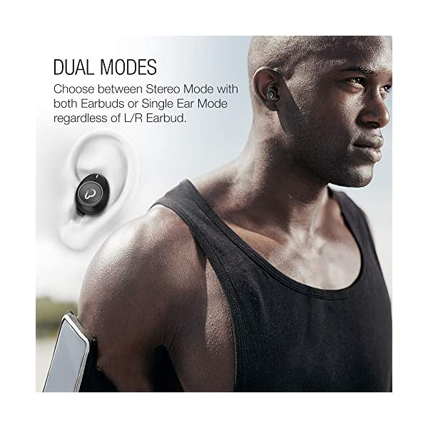 Purity True Wireless Earbuds with Immersive Sound, Bluetooth 5.0 Earphones in-Ear with Charging Case Easy-Pairing Stereo Calls/Built-in Microphones/IPX5 Sweatproof/Pumping Bass for Sports,Workout,Gym 6