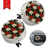 TIZORAX Auto Aromaterapia Crisantemo Giapponese Modello 2 Confezioni Deodorante Diffusore Purificatore di Clip di Olio Essenziale con Cuscinetti di Ricarica