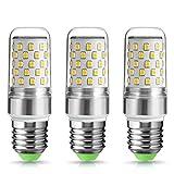 3X 9W E27 Bombilla LED, Techgomade 80W Bombillas incandescentes equivalentes, Alto brillo 1000LM, Blanco cálido 2700K