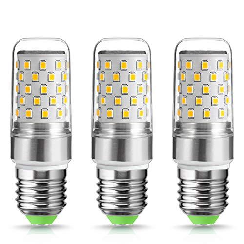 3X Techgomade Edison Kerze Glühbirnen, E27 9W, 80W Glühlampe äquivalent, 1000Lm, Hohe Helligkeit, 2700K Warmweiß Kandelaber-Birne