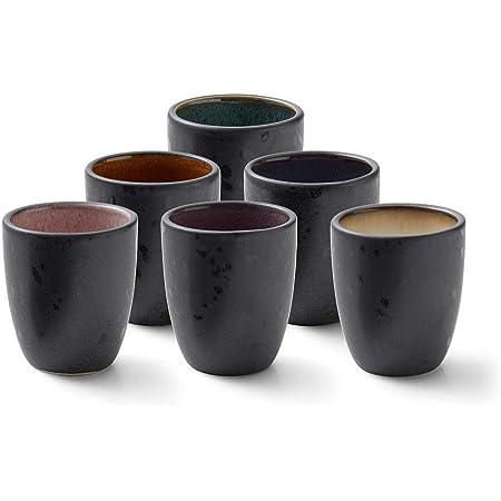 Bitz Set de 6 tasses à expresso en grès 10 cl Passe au lave-vaisselle