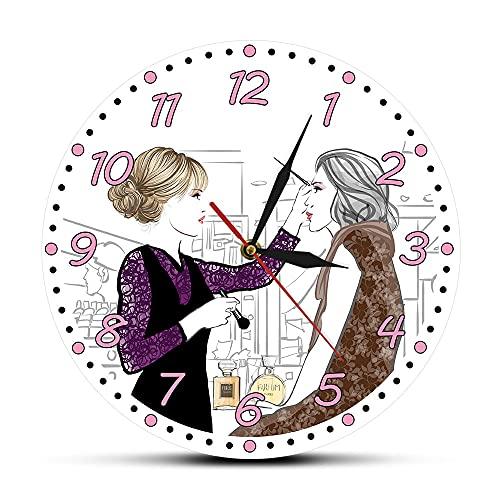 Regali per il giorno del membro per le donne E 'Lash O'clock Trucco Moda Estensioni Ciglia Personalizzato Orologio Da Parete Personalizzato Nome