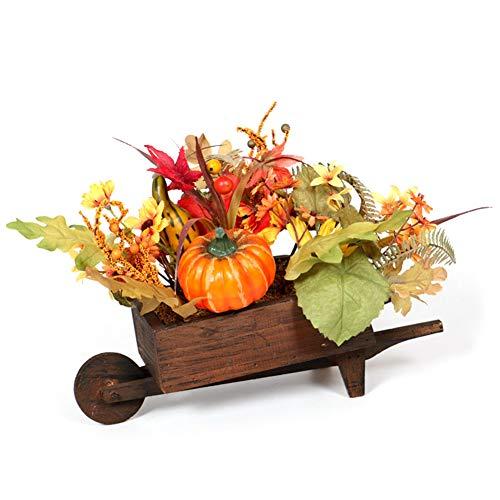 Amiispe Halloween Dekoration künstliche Ahornblätter Kürbis für Herbst Wagen Halloween Home Draussen Party Dekoration