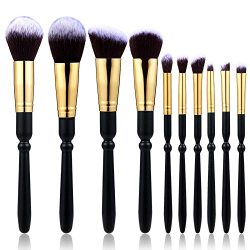 MPKHNM 10 wooden handle bottom white peak fiber beauty makeup tool foundation brush eye shadow brush makeup brush set