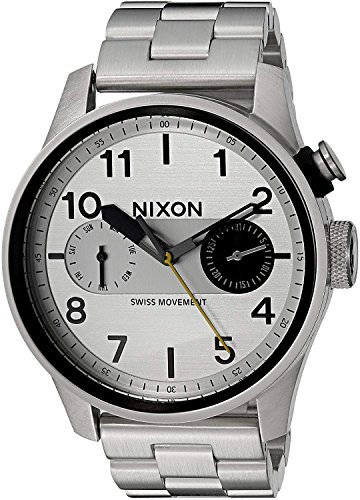 Nixon Herren Chronograph Quarz Uhr mit Edelstahl Armband A976 130-00