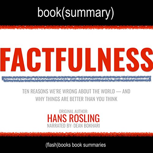 Summary of Factfulness by Hans Rosling: Ten Reasons Why We're Wrong About the World - and Why Things are Better Than We Think audiobook cover art