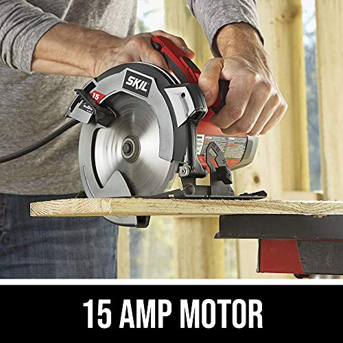SKIL 5280-01 Circular Saw with Single Beam Laser Guide, 15 Amp/7-1/4