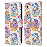 Head Case Designs Officially Licensed My Little Pony Donut and Stars Candy Clash Leather Book Wallet Case Cover Compatible with Apple iPhone 7 / iPhone 8