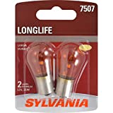 SYLVANIA - 7507 Long Life Miniature - Bulb, Ideal for Turn Signal Applications. (Contains 2 Bulbs)