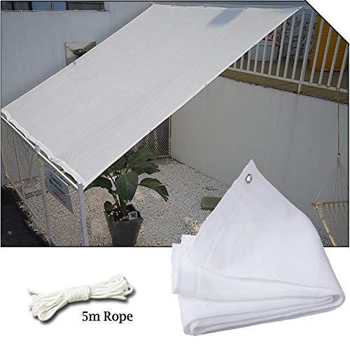 Shade Cloth SUTY 8ftX10ft Rectangular Vela de Sombra, Puede Cubrir el 80% de Resistente a los Rayos UV, Sombra de Red para Las Plantas de Invernadero de Garden Terrace (Blanco)